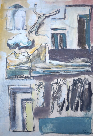 Mario Sironi, 'Composition with Figures | Composizione con Figure', 1940