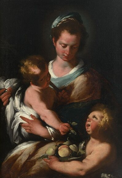 Bernardo Strozzi, 'Madonna & Child with St. John the Baptist'