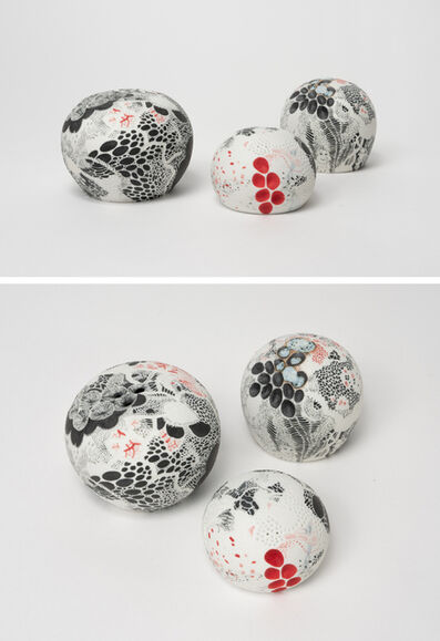 Darina Karpov, 'Nature centres into balls II (Group of three)', 2019