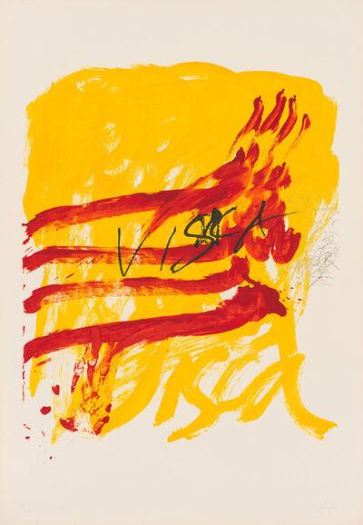 Antoni Tàpies, '(7) Als Mestres de Catalunya (Galfetti 488-494)', 1974