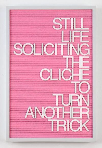 Maynard Monrow, 'Untitled / Soliciting The Cliche (Grey/Pink)', 2018