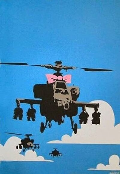 Banksy, 'Happy Choppers- Unsigned', 2003
