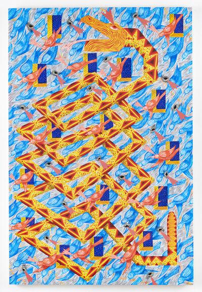 Andrew Schoultz, 'Infinite Facade and Serpent', 2018
