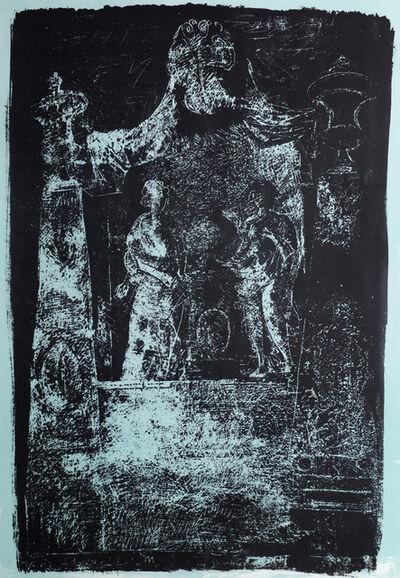John Piper, 'Exton, Rutland: Monument by Grindling Gibbons', 1964