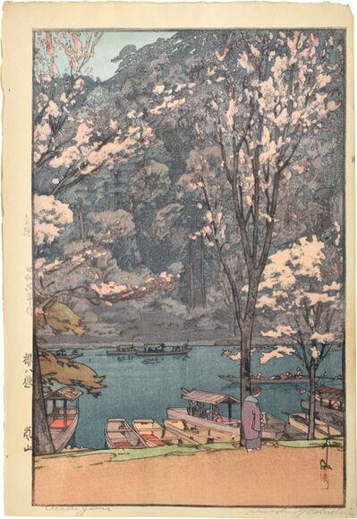 Yoshida Hiroshi, 'Eight Scenes of Cherry Blossoms: Arashiyama', 1935