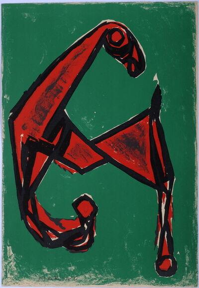 Marino Marini, 'Cheval Rouge sur Font Vert', 1955