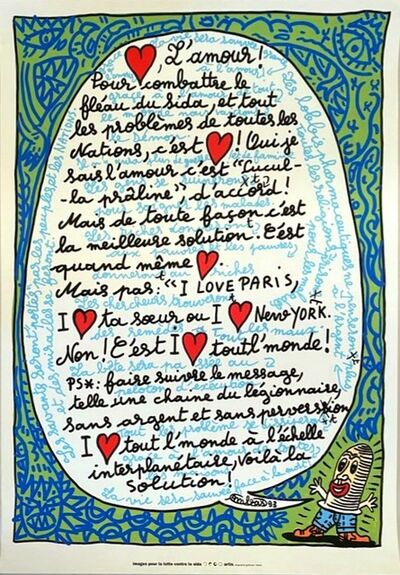 Robert Combas, 'L'amour', 1993