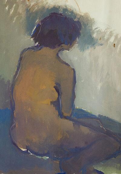 Jennifer Hornyak, 'Nu avec cheveux bleus', 2019