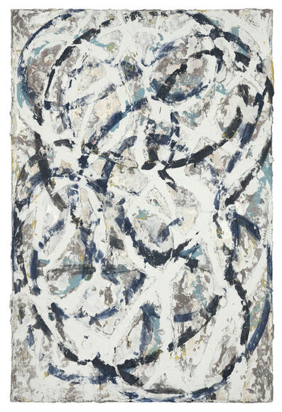 Nicole Charbonnet, 'Erased Wool (Study for Black and Blue No. 1)', 2017
