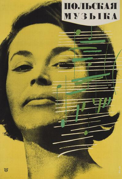 Wojciech Zamecznik, 'New poster « La Musique Polonaise »', 1963