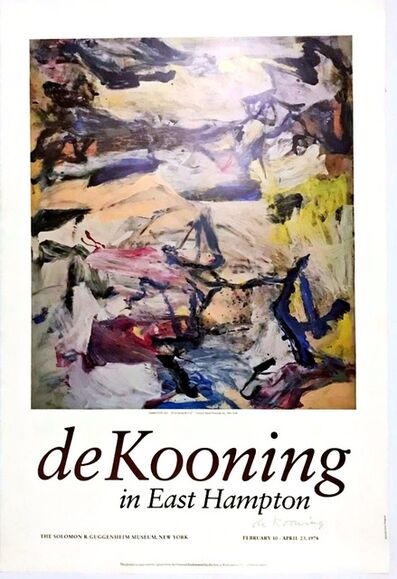 Willem de Kooning, 'de Kooning in East Hampton (Hand Signed), from the Estate of Dr. Alan York', 1978