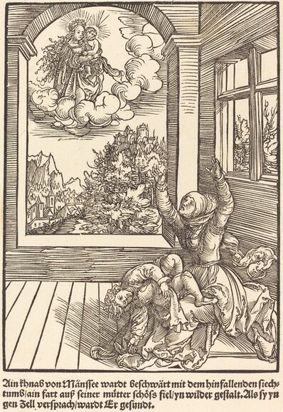 Master of the Miracles of Mariazell, 'Ain khnab von Mansee wardt ..', ca. 1503
