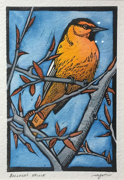 Sherrie York, 'Bullocks Oriole (bitty bird)', 2019