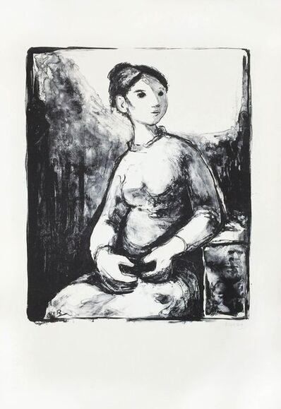 Fernando Rivero, 'Mujer sentada', 1970