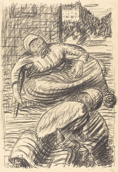Ernst Barlach, 'Street in Warsaw', published 1915