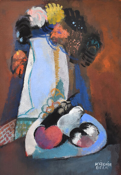 Bela Kadar, 'Still Life with Bouquet and Fruits'