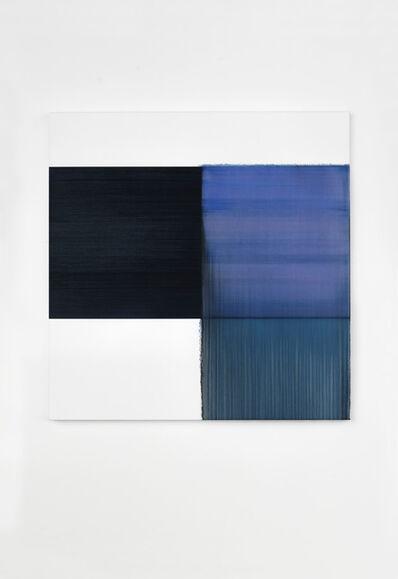 Callum Innes, 'Exposed Painting Delft Blue / Violet', 2020