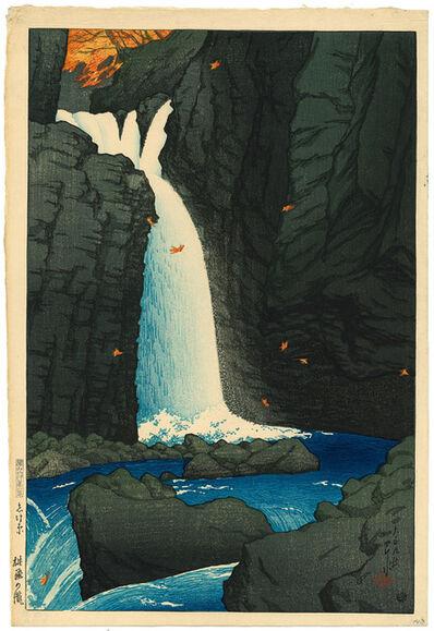 Kawase Hasui, 'Yūhi Waterfall, Shiobara', 1920