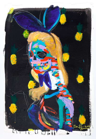 Bradley Theodore, 'Kate Moss with Pineapple', 2016