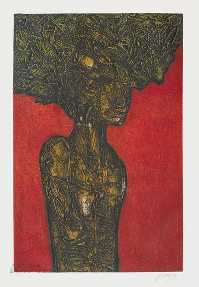 Choco, 'Mujer con hojas / Woman with Leaves', 2014
