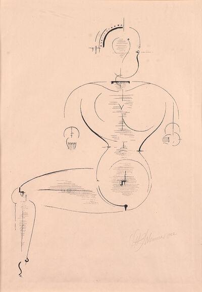 Oskar Schlemmer, 'Figur von de Seite from Bauhaus portfolio', 1922
