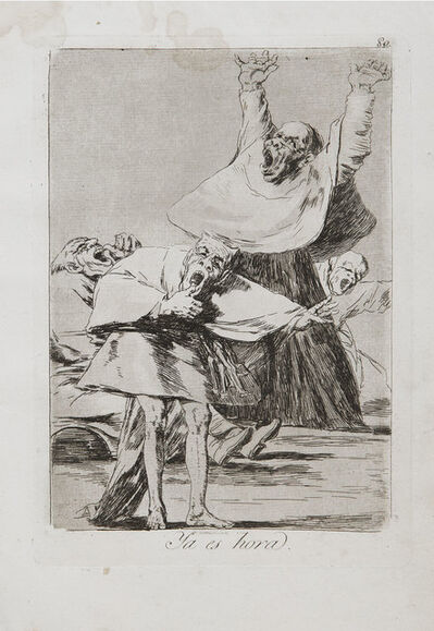 Francisco de Goya, 'Ya Es Hora', 1799