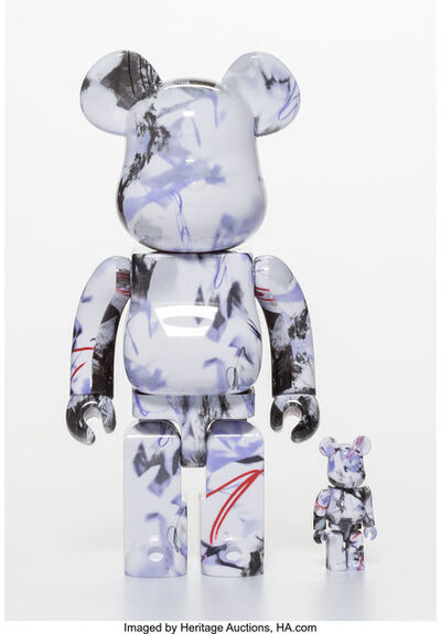 BE@RBRICK, 'Purple Marble 400% and 100% (set of two)', 2017