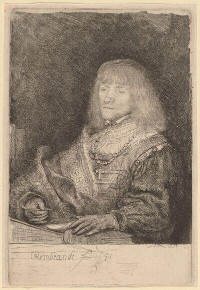 Rembrandt van Rijn, 'Man at a Desk Wearing a Cross and Chain', 1641