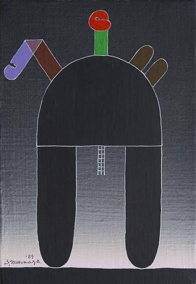 Sadamasa Motonaga, 'Black half circle and Shapes ', 1984