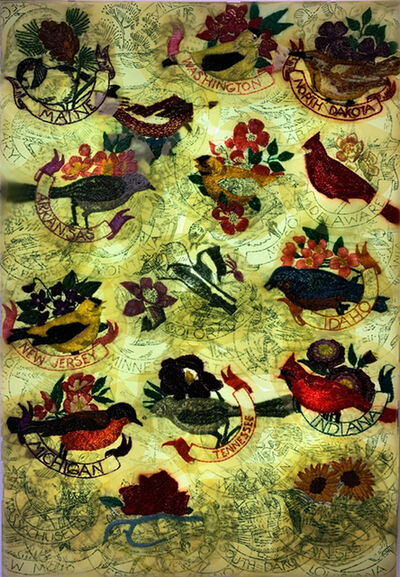 Jil Weinstock, 'Statu Avium   Flores / State Birds and Flowers', 2019
