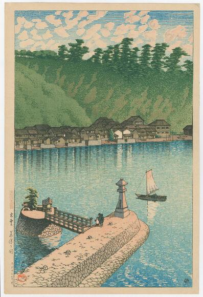 Kawase Hasui, 'Mihogaseki Beach in Izumo Province', 1924