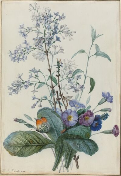 Pierre Joseph Redouté, 'A Bouquet of Flowers with Insects'