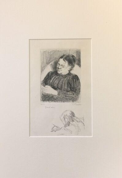Camille Pissarro, 'Grand'mère - Portrait de la femme de l'artiste', 1895