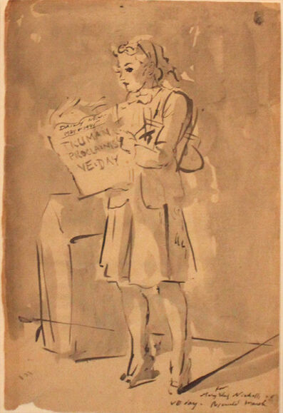 Reginald Marsh, 'Truman Proclaims VE Day', 1945