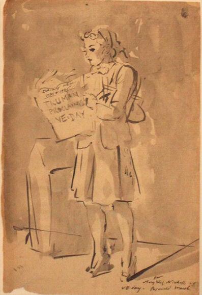 Reginald Marsh, 'Truman Proclaims VE Day', 1945