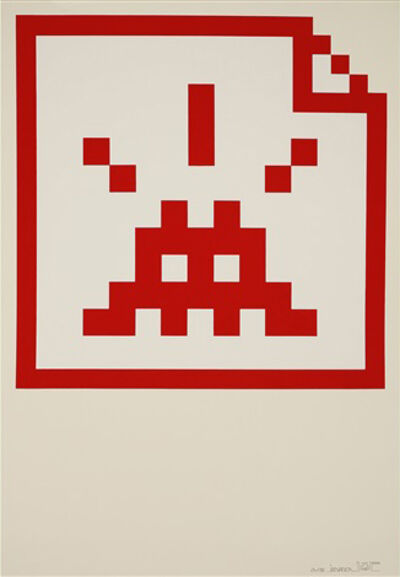 Invader, 'Space File (Red)', 2007