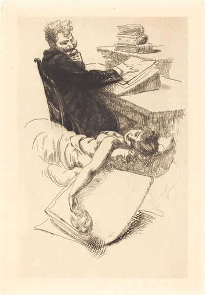 "Albert Besnard, 'Frontispiece for ""L'Affaire Clémenceau""', 1905"
