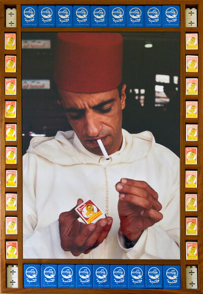 Hassan Hajjaj, 'Ahmed Lightin Up', 2000
