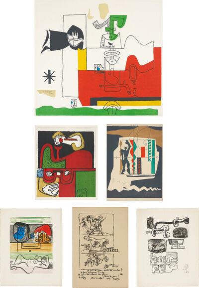 Le Corbusier, 'Totem; Portrait; Modular; Unité: two plates; and Don Quijote', ca. 1955-1965
