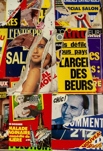 Jacques Villeglé, 'Carrefour Arts et Metiers', 1987