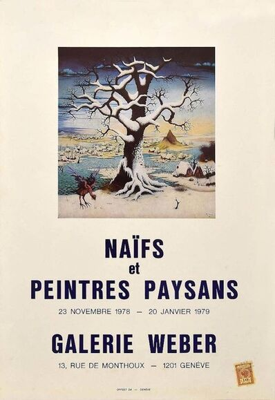 Various Artists (20th century), 'Naif Poster Exhibition - Galerie Weber Genève', 1978/79