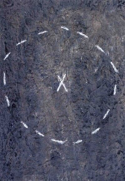 Antoni Tàpies, 'Cercle sur matière', 1970
