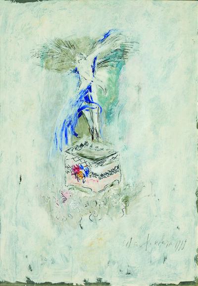 SRĐAN VUKČEVIĆ, 'Angel with Blue Wings', 1989