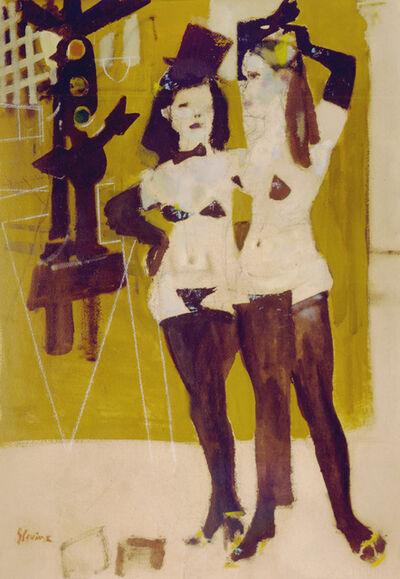 Jack Levine, 'Girls From Fleugel Street (Study)', 1958