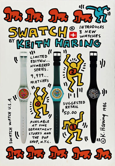 Keith Haring, 'Swatch by Keith Haring (Keith Haring Swatch poster)', 1986