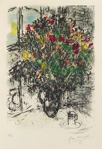 Marc Chagall, 'Le Bouquet Rouge. Red Bouquet. ', 1969