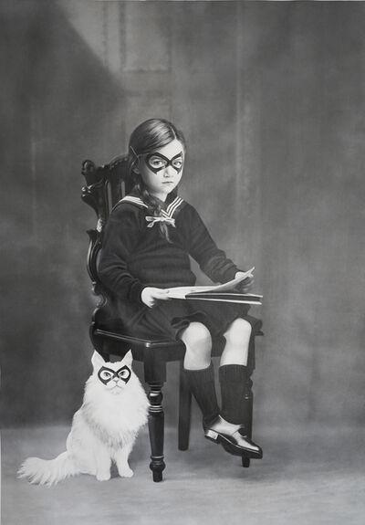 Zoé Byland, 'Girl with Cat', 2018