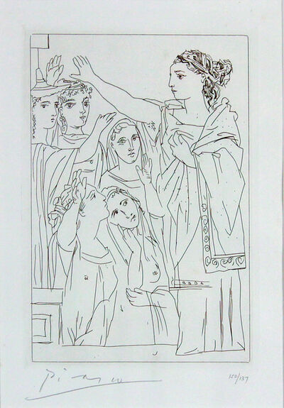 Pablo Picasso, 'Serment Des Femmes II (From Lysistrata)', 1934