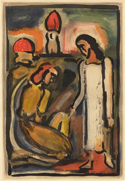 Georges Rouault, 'Christ et Sainte Femme from Passion', 1936