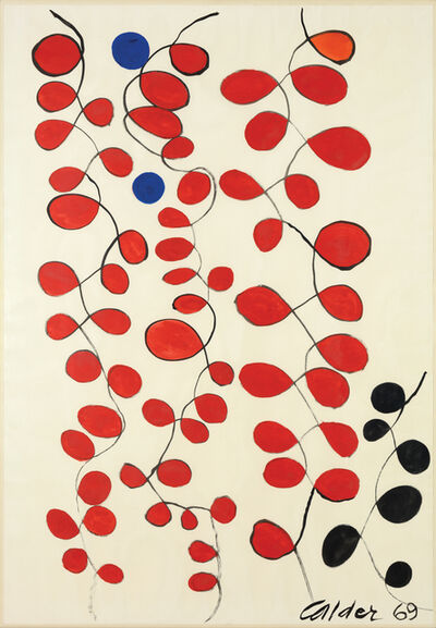 Alexander Calder, 'Blue Dots in Red Loops', 1969